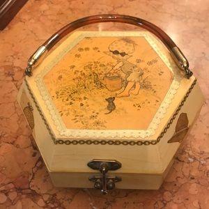 🆕 Holly Hobbie vintage wooden purse